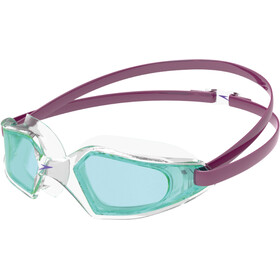 speedo Hydropulse Occhialini da nuoto Bambino, deep plum/clear/light blue